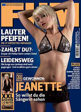 Jeanette Biedermann FHM Cover